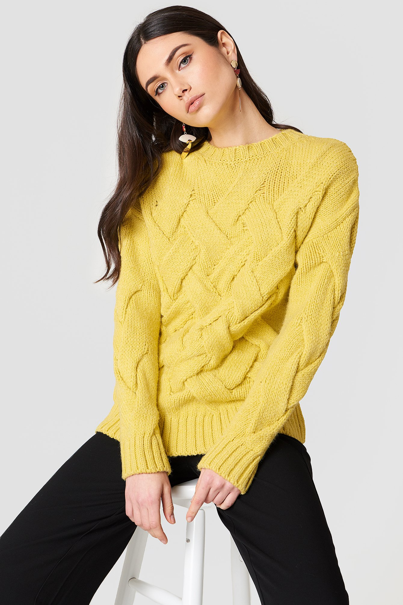 Knitted Braided Sweater NA-KD.COM