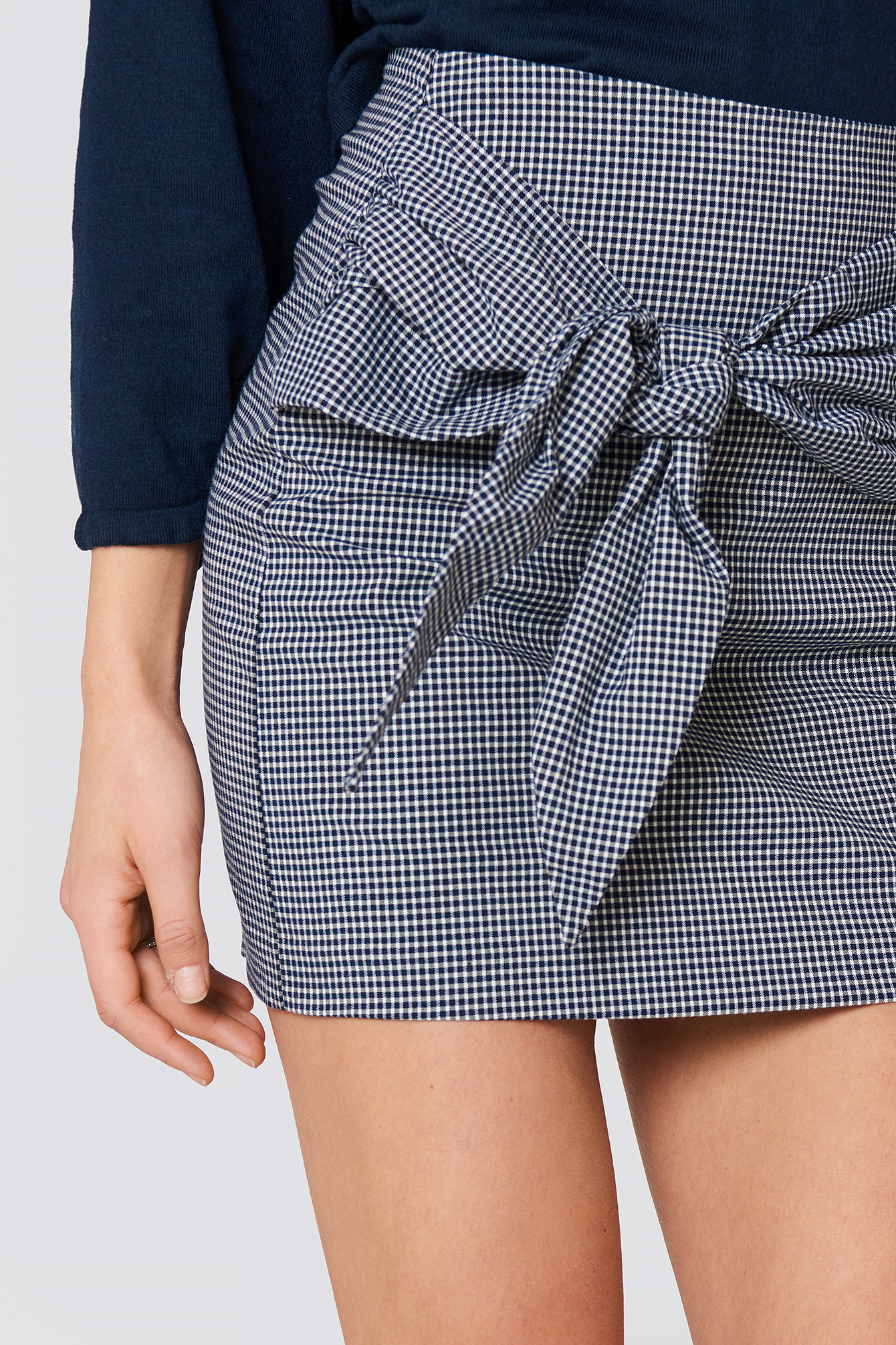 Knot Checked Skirt NA-KD.COM