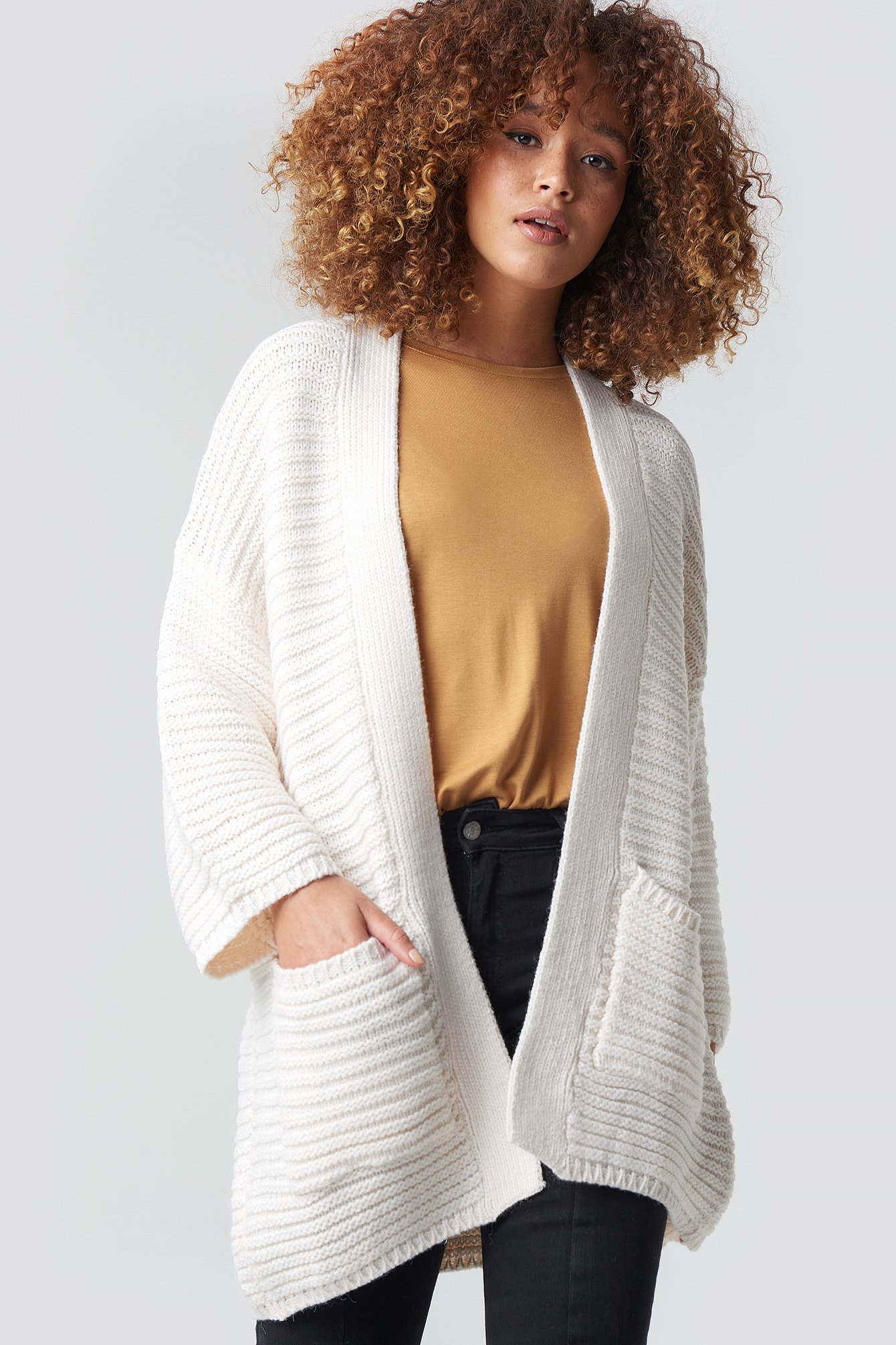 mango -  Lemon Cardigan - White