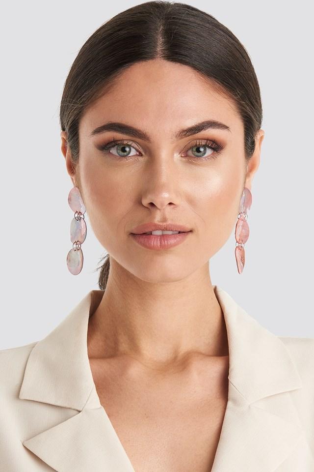 Lily Earrings Peach