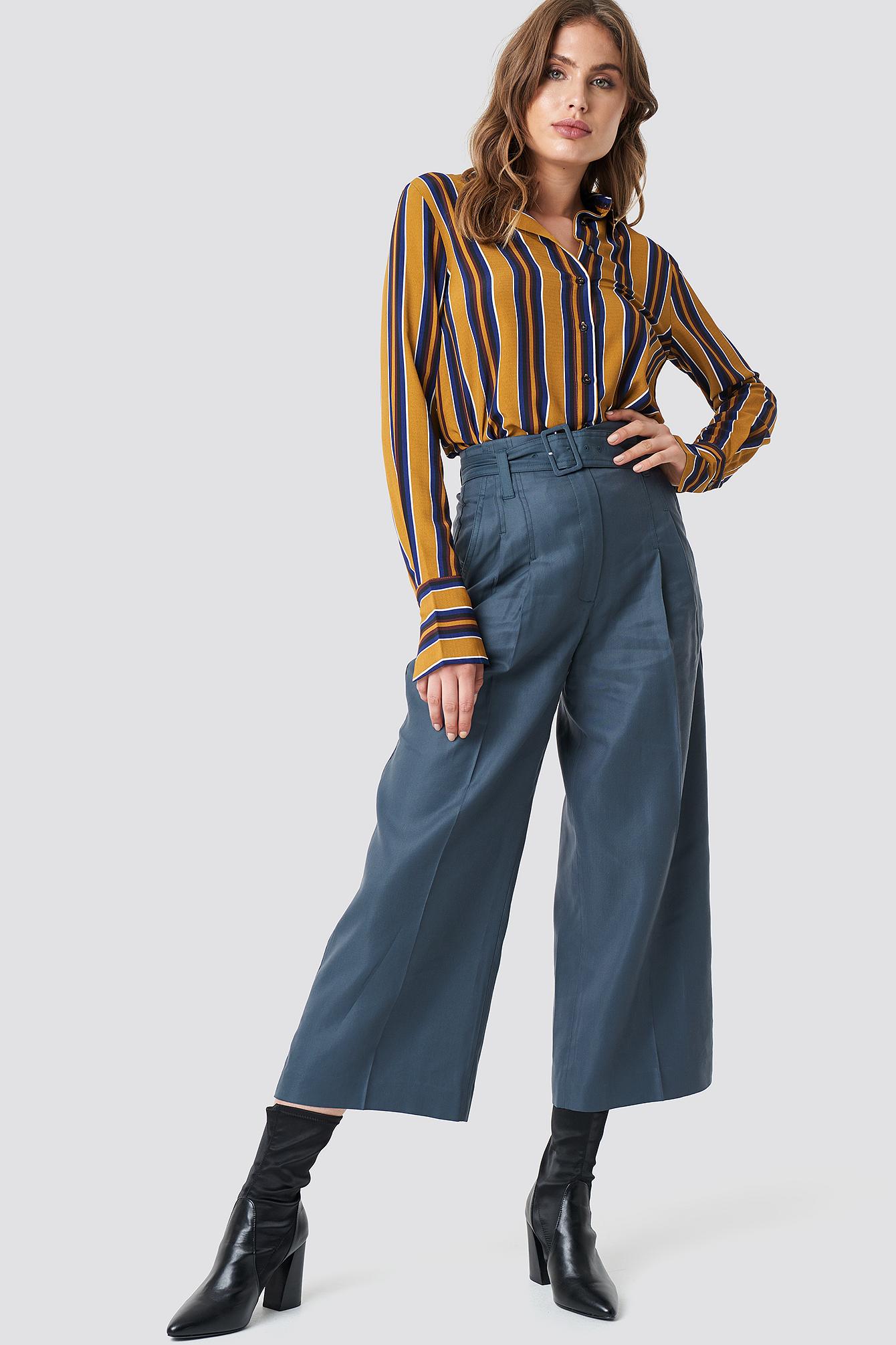 mango -  Linus Trousers - Blue