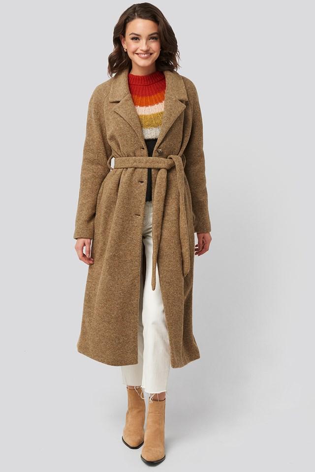 Lisi Coat Dark Brown
