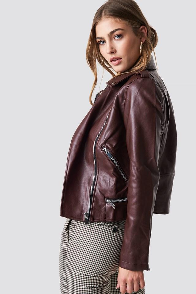 Liz Jacket Dark Red
