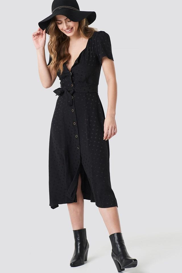 Luna Midi Dress Black