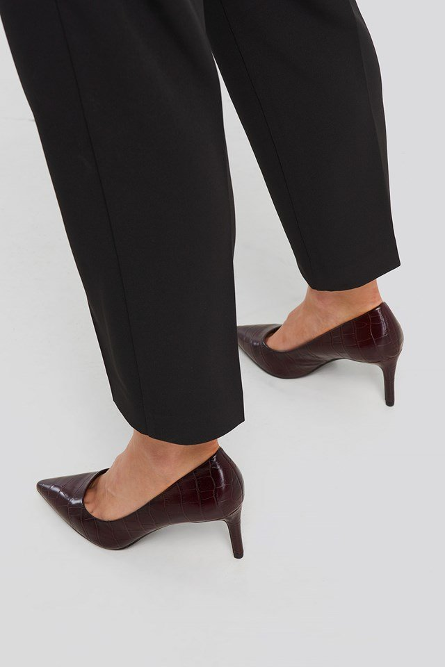 Luna Shoes Wine Red