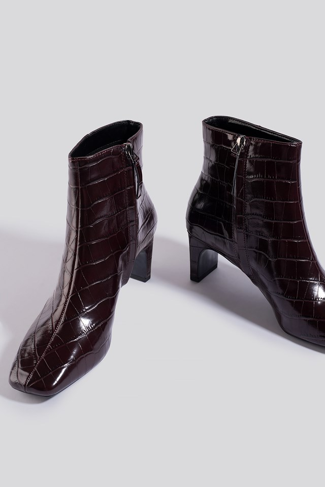 Marcus Ankle Boots Dark Red