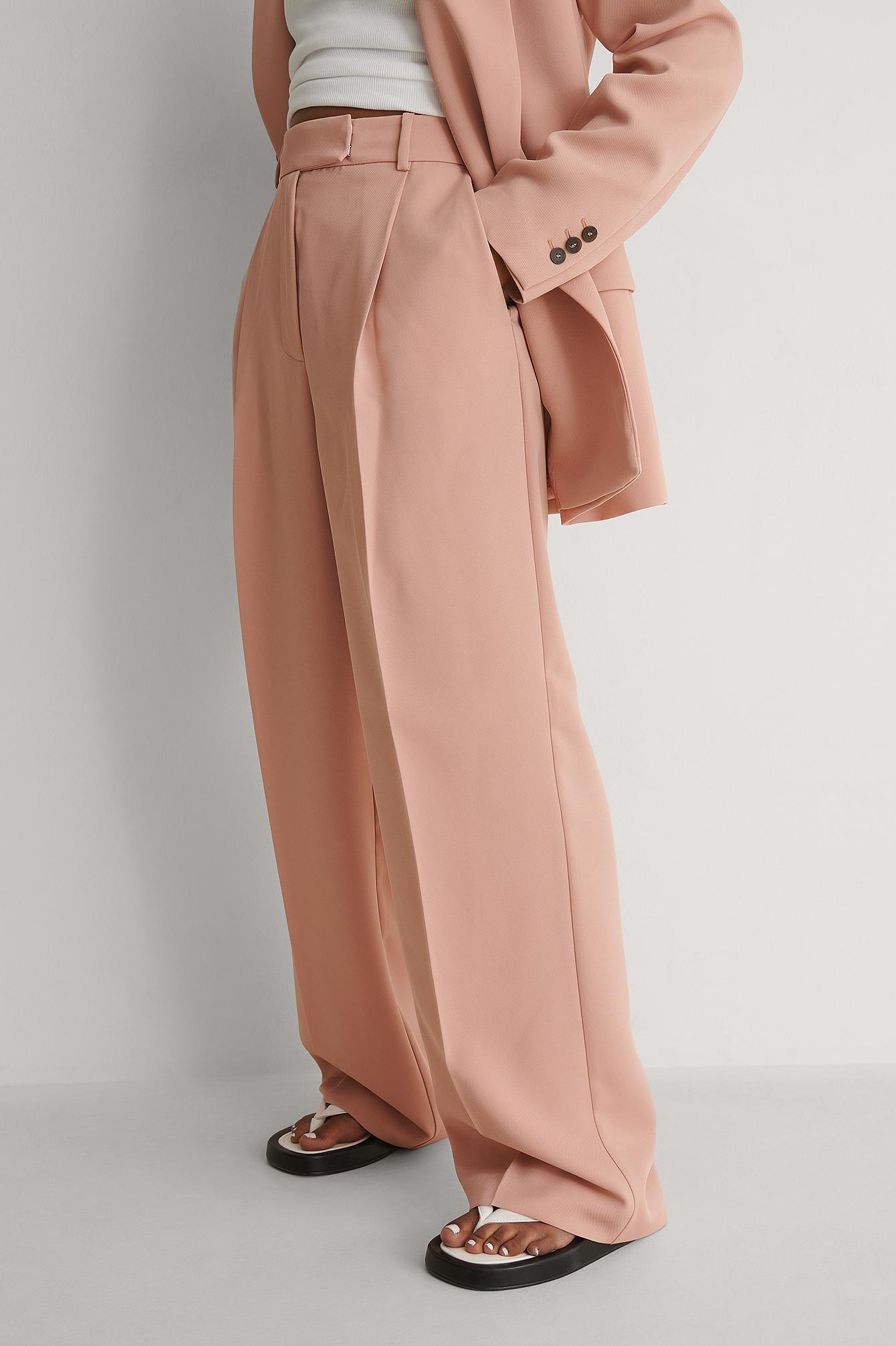 Light Pink Gerecycleerd Broek na-kd