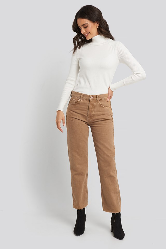 Mariona Jeans Light Brown