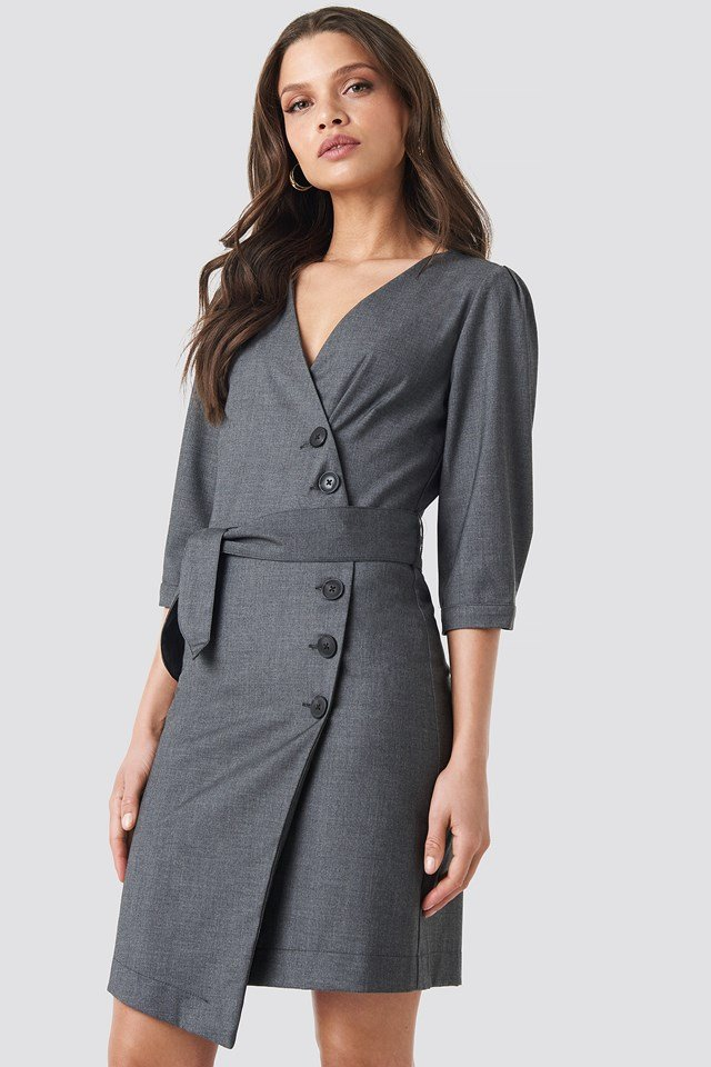 Milly Dress Dark Grey