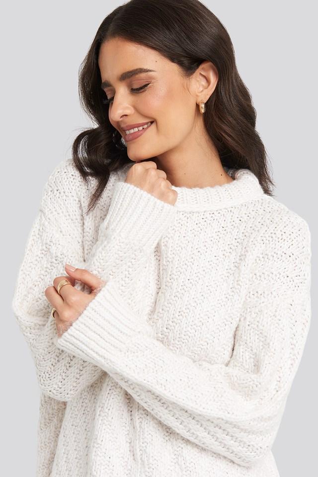 Mirror Sweater Light Beige