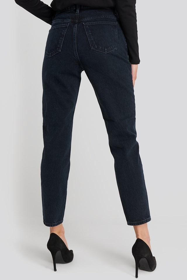 MOM80 Jeans Blue Black Denim