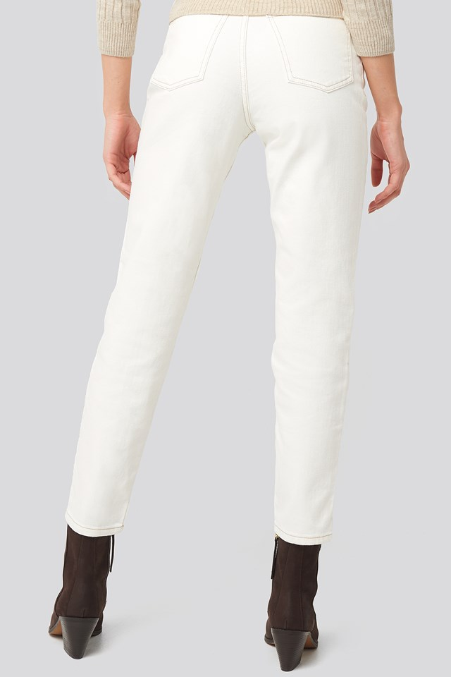 Mom Jeans Offwhite