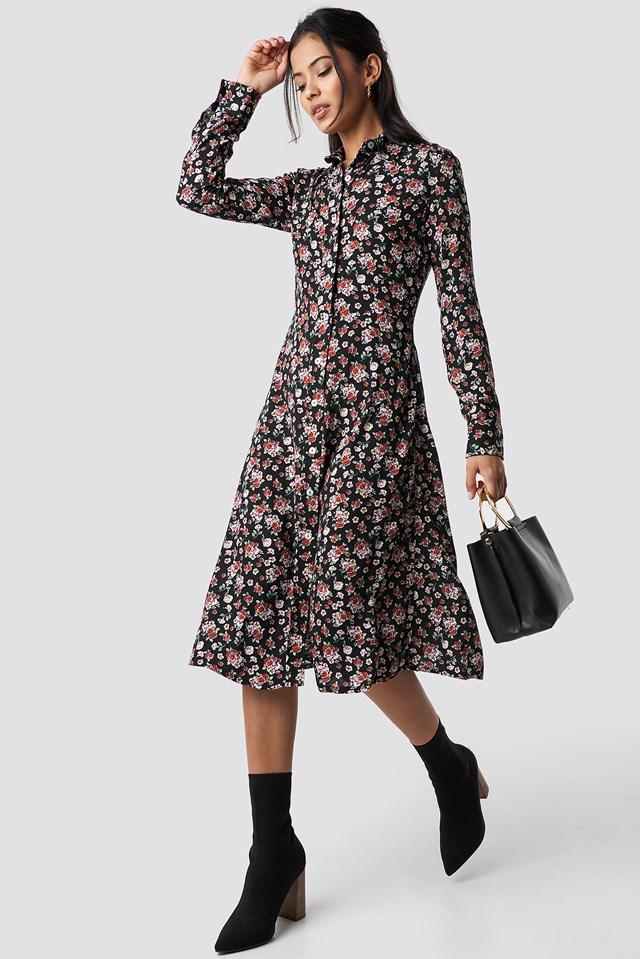Monu Midi Dress Black