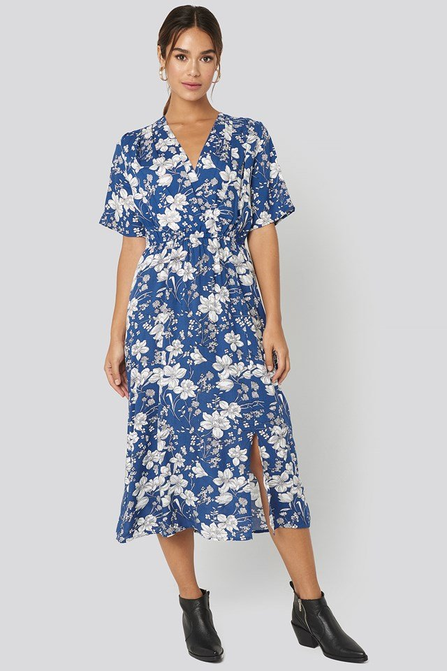 Moon H Dress Blue