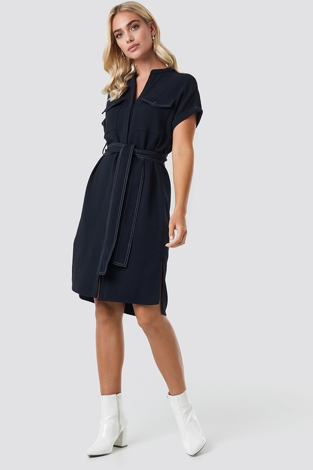 Moss Dress Dark Navy