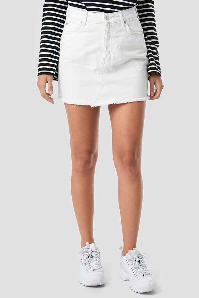 Musthave Denim Skirt White