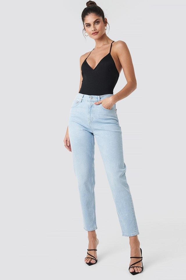 New Mom Jeans Light Wash