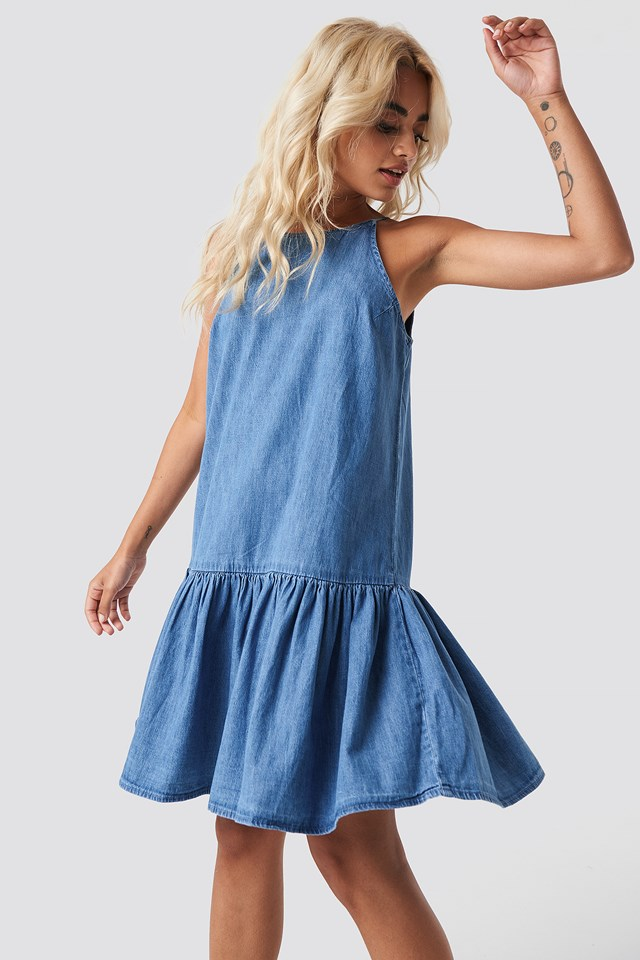 Nina Dress Open Blue