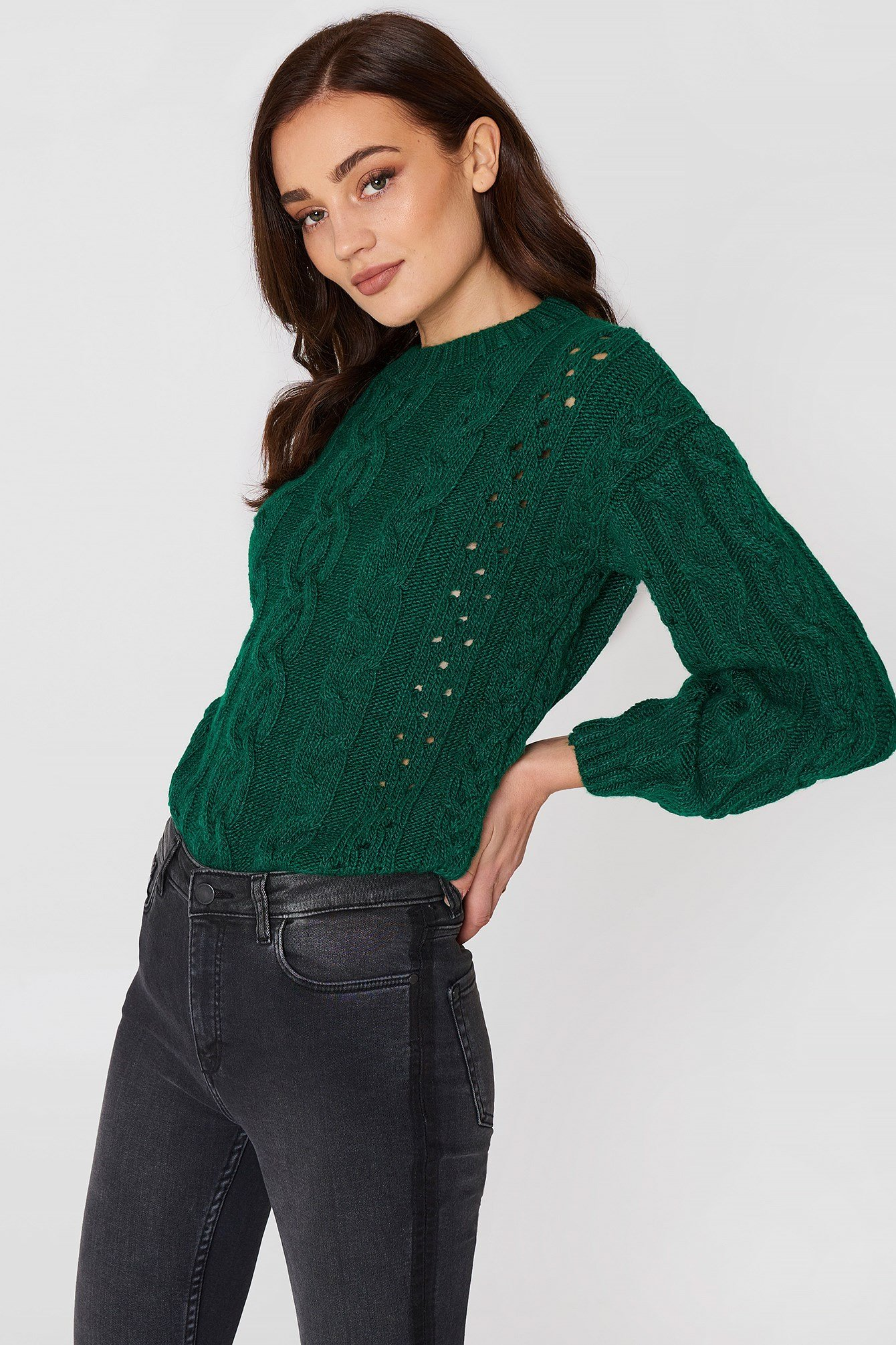 Openwork Cable-Knit Sweater NA-KD.COM