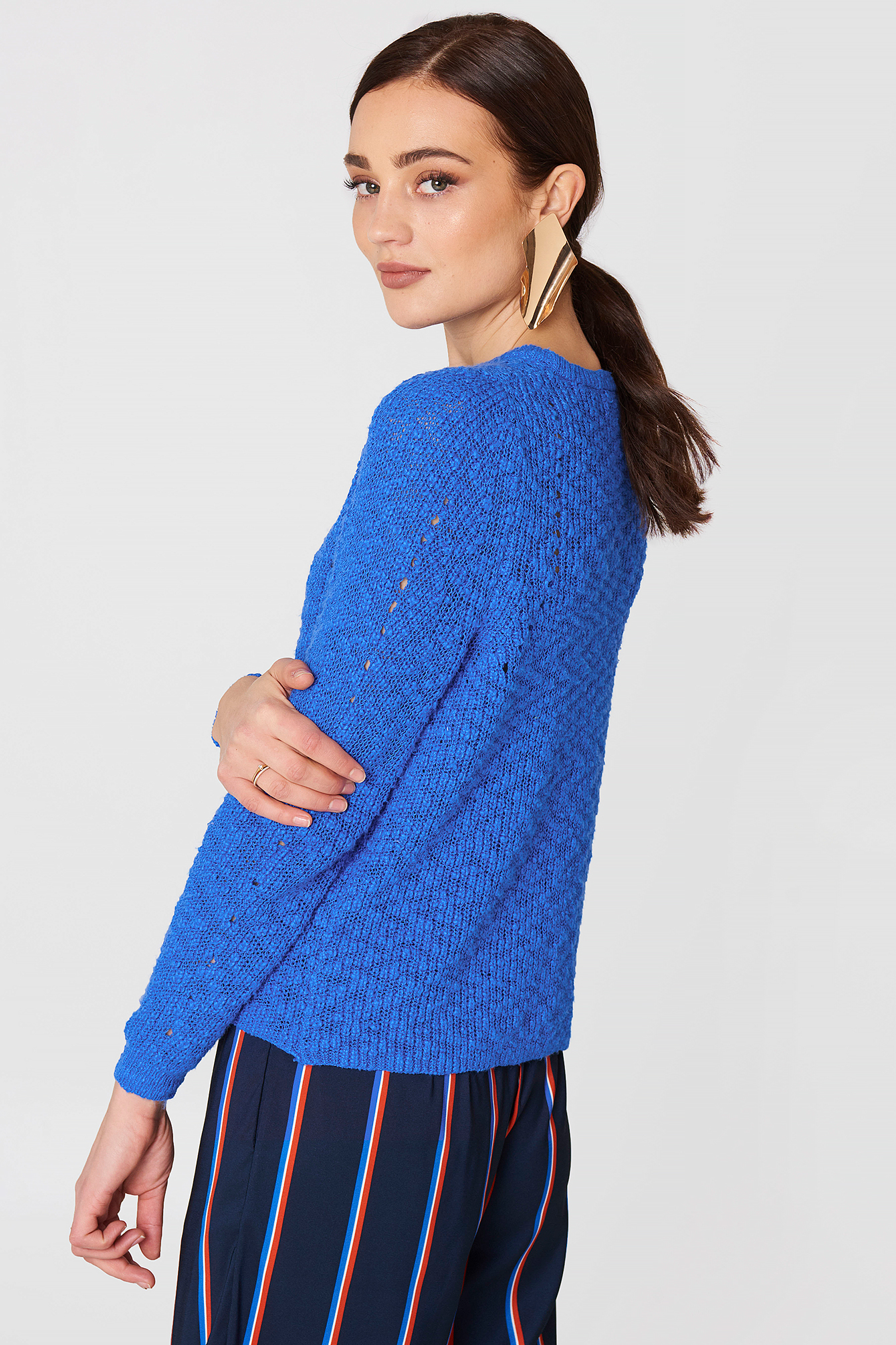 Openwork Knit Sweater NA-KD.COM