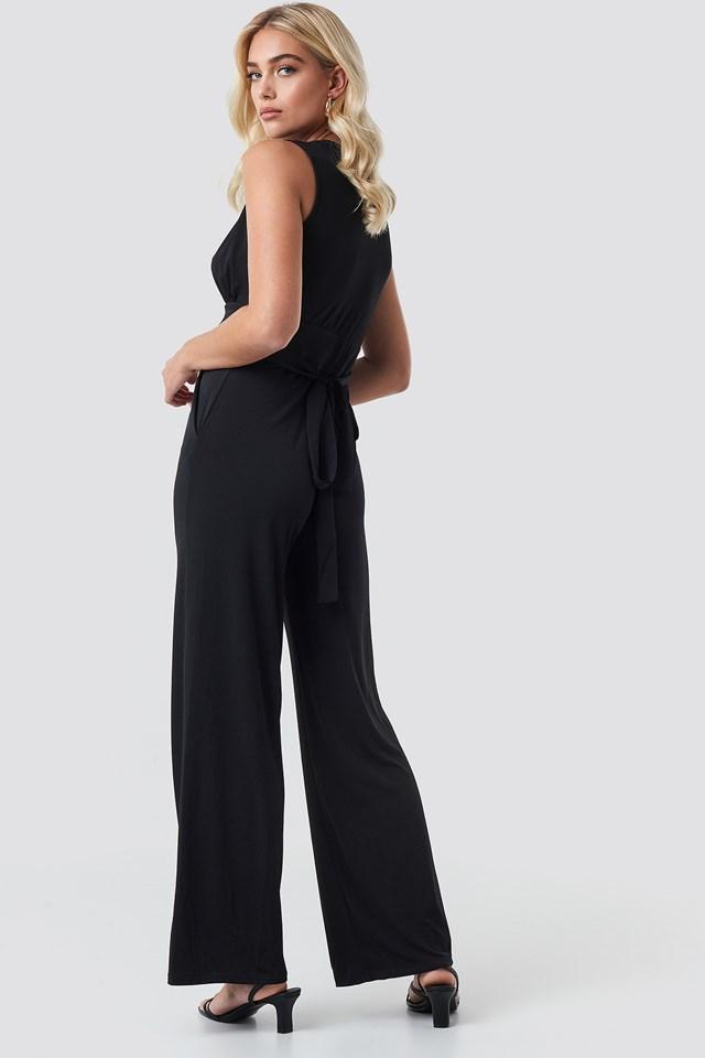 Palm Jumpsuit Black