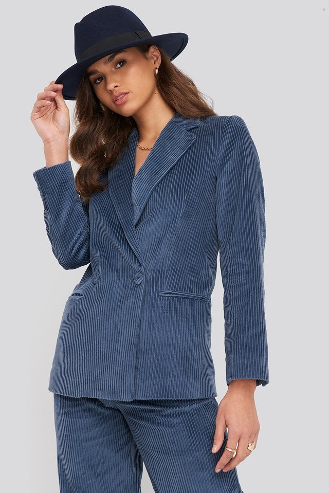 Pan Blazer Medium Blue