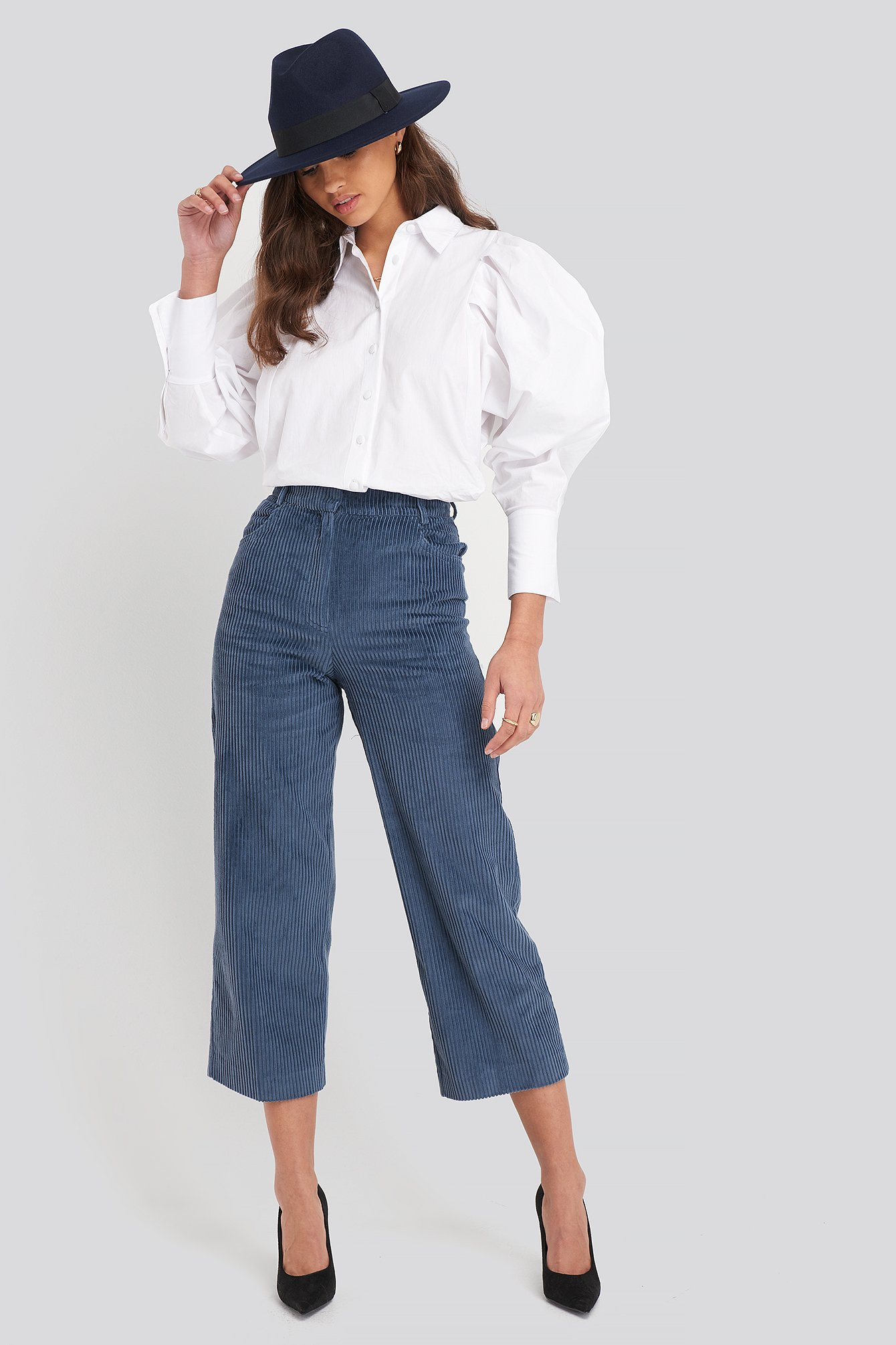 Medium Blue Pan Trousers