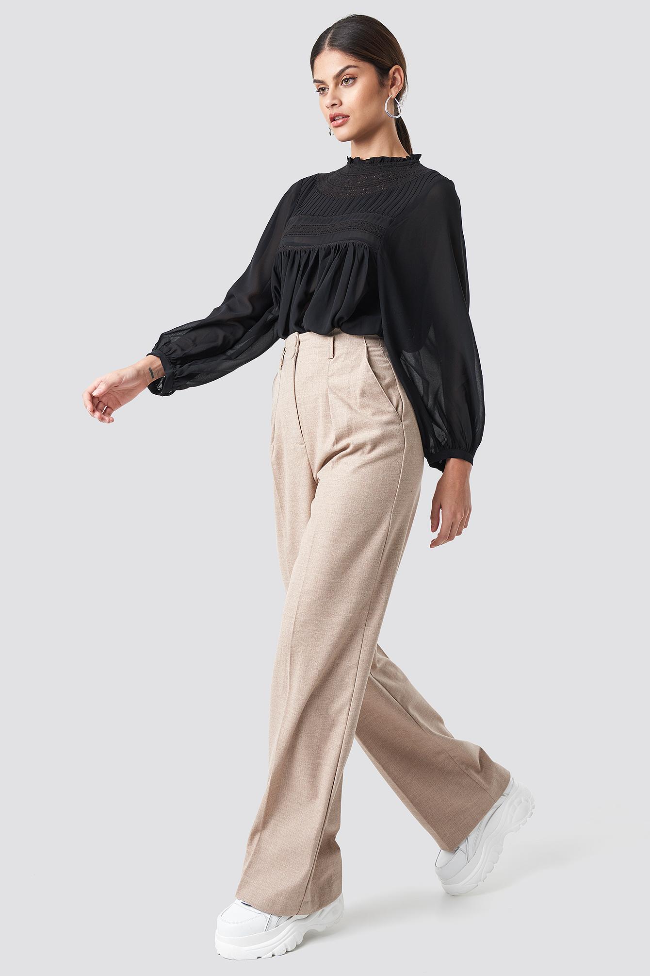 Paper Trousers NA-KD.COM