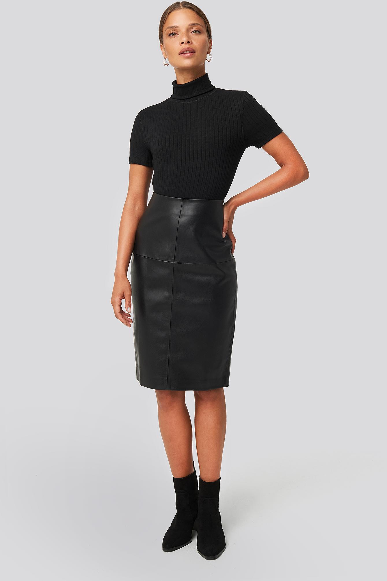 pencil-skirt-noir by mango