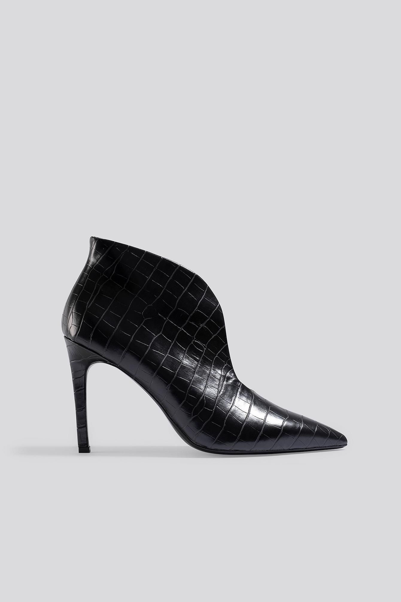 mango -  Pico Ankle Boots - Black