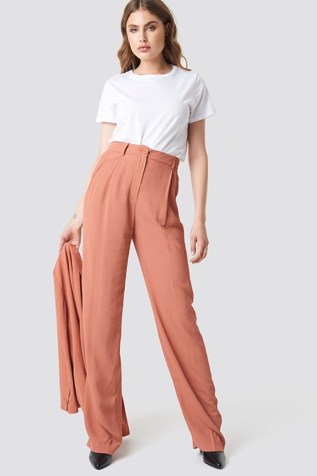 Pinky Trousers Terracotta