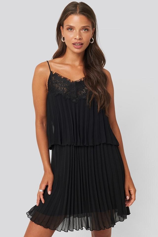 Plis Dress Black
