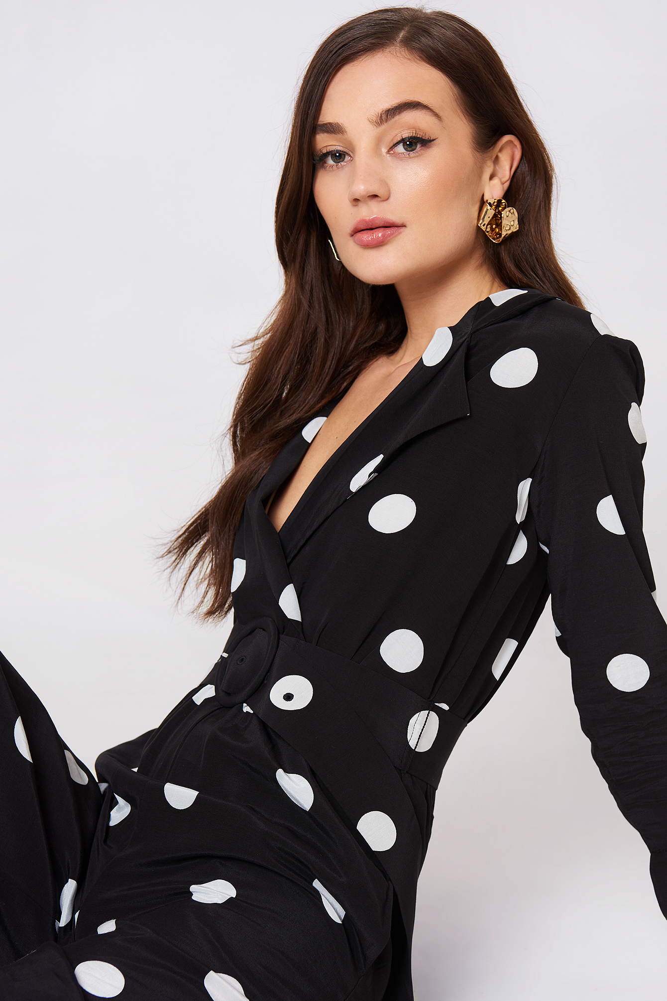 Polka-Dot Long Jumpsuit NA-KD.COM
