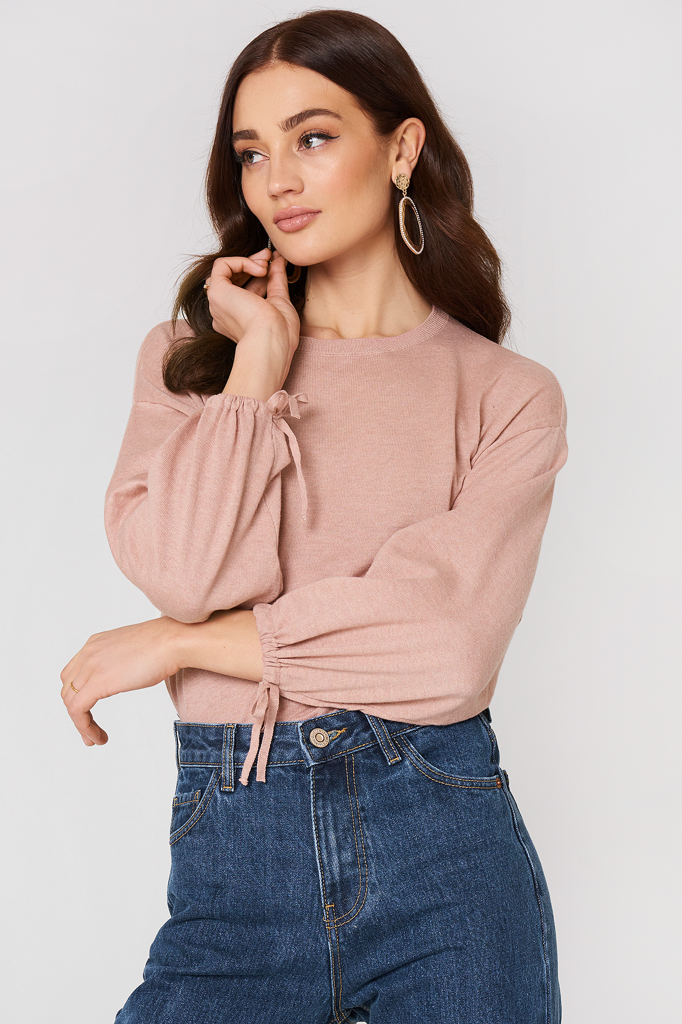 Puffed Sleeves Sweater NA-KD.COM