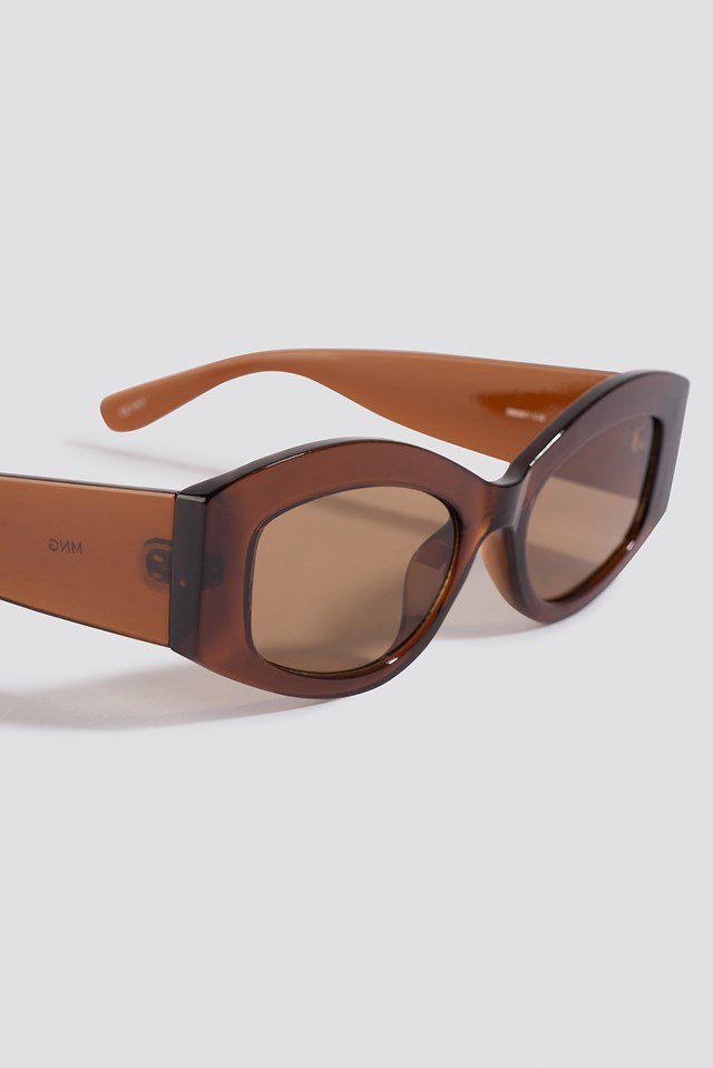 Rectang Sunglasses Chocolate