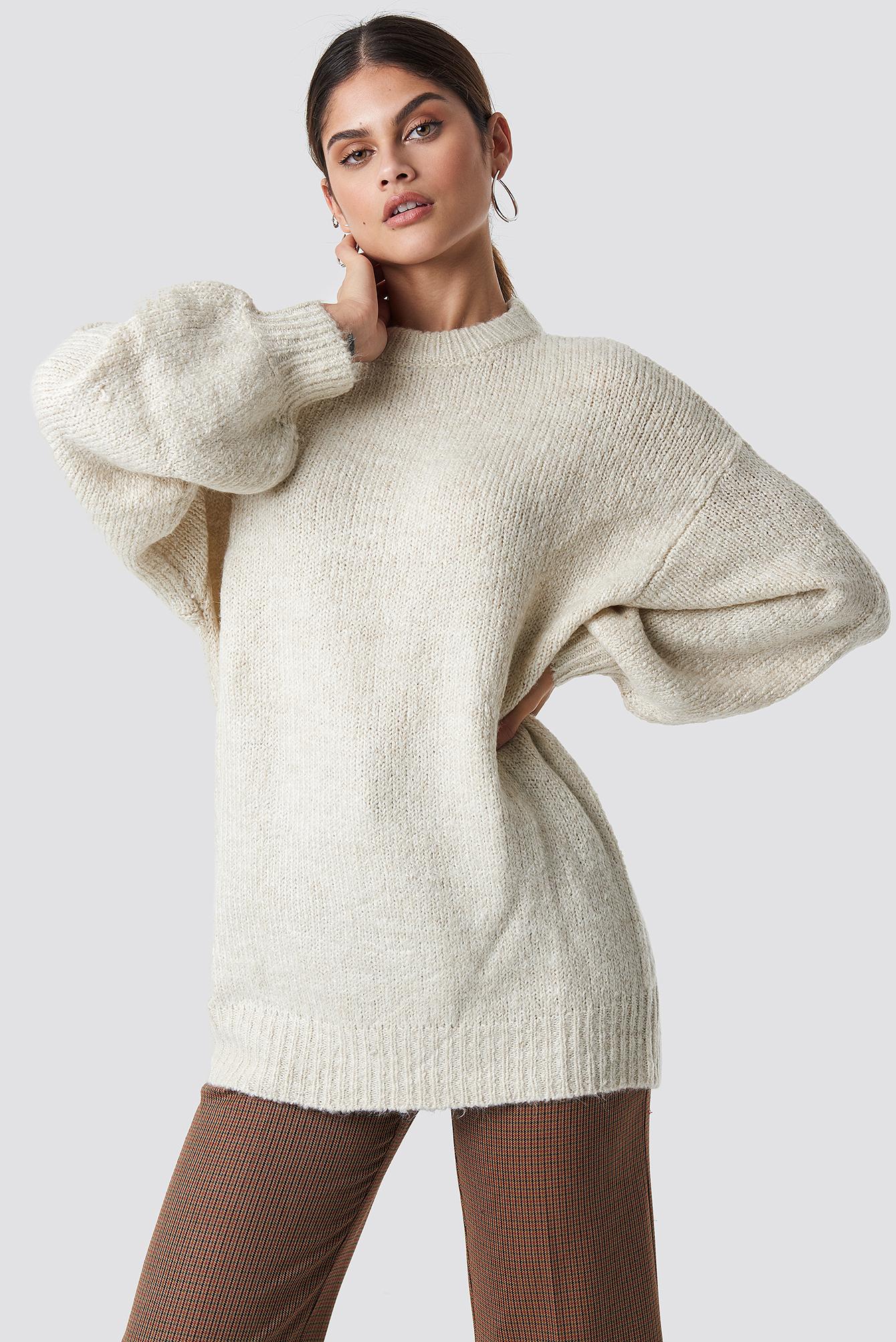 mango -  Saudade Sweater - Offwhite