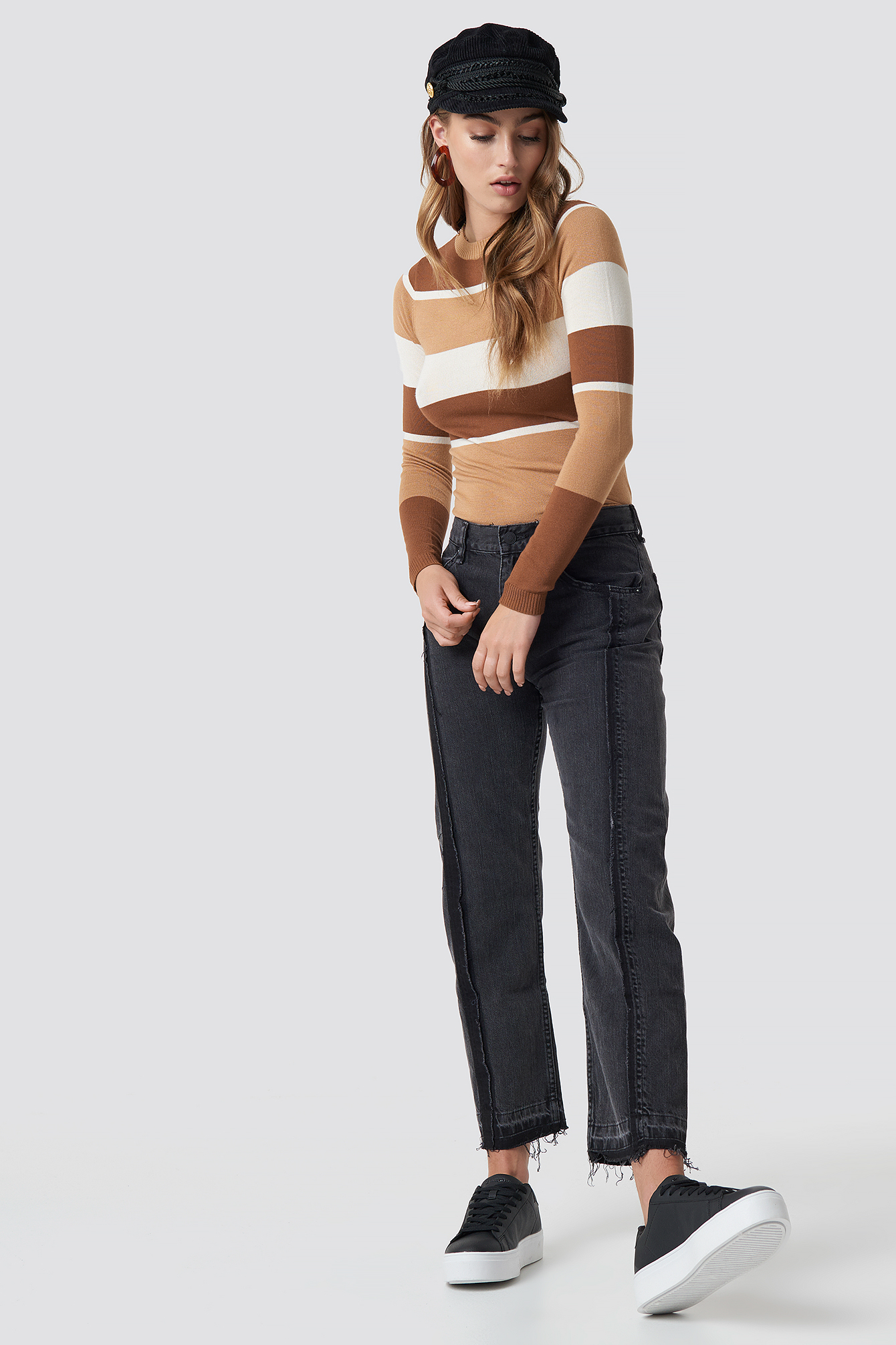 Straight Cropped Jeans NA-KD.COM
