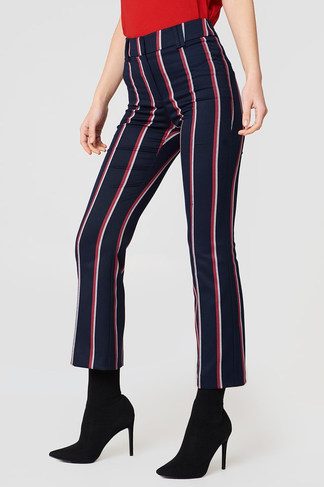84da6bc1a5 Straight Striped Trousers NA-KD.COM