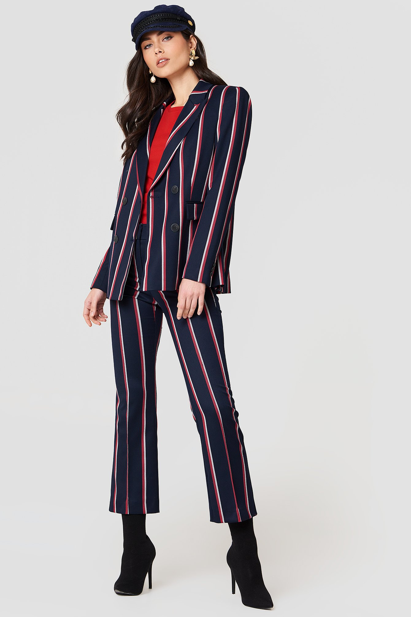 Straight Striped Trousers NA-KD.COM
