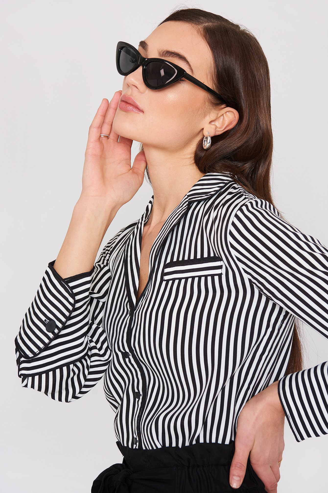 Striped Blouse NA-KD.COM