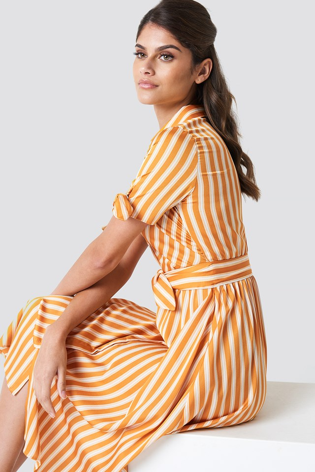 Striped Bow Dress NA-KD.COM