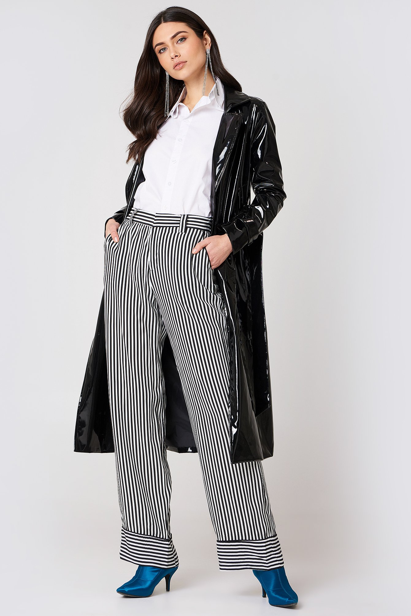 Striped Palazzo Trousers NA-KD.COM