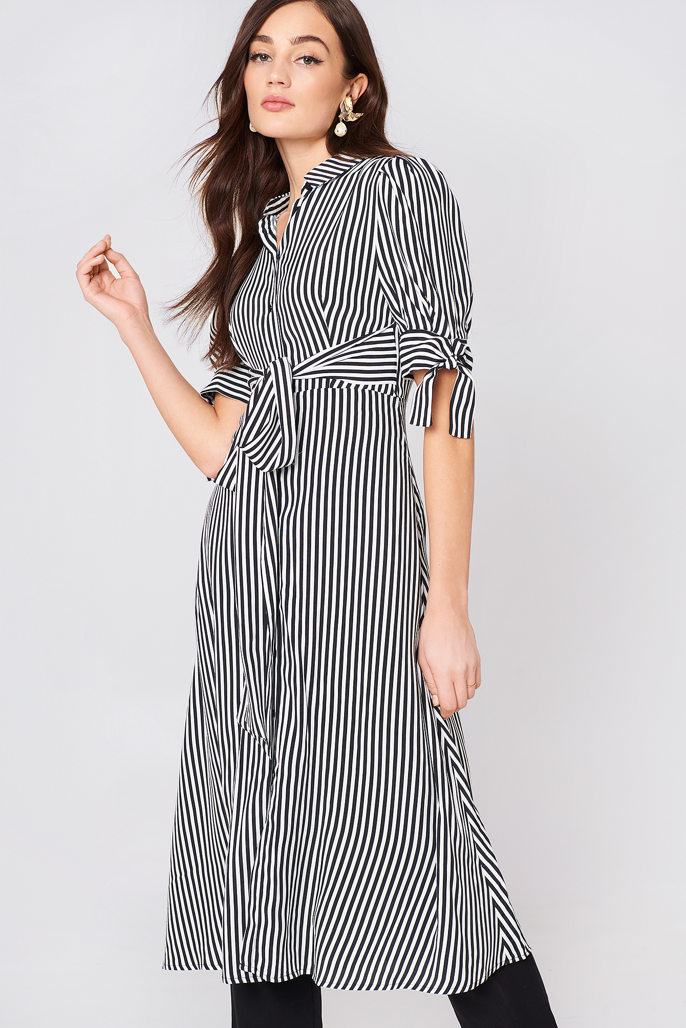 Striped Shirt Dress NA-KD.COM