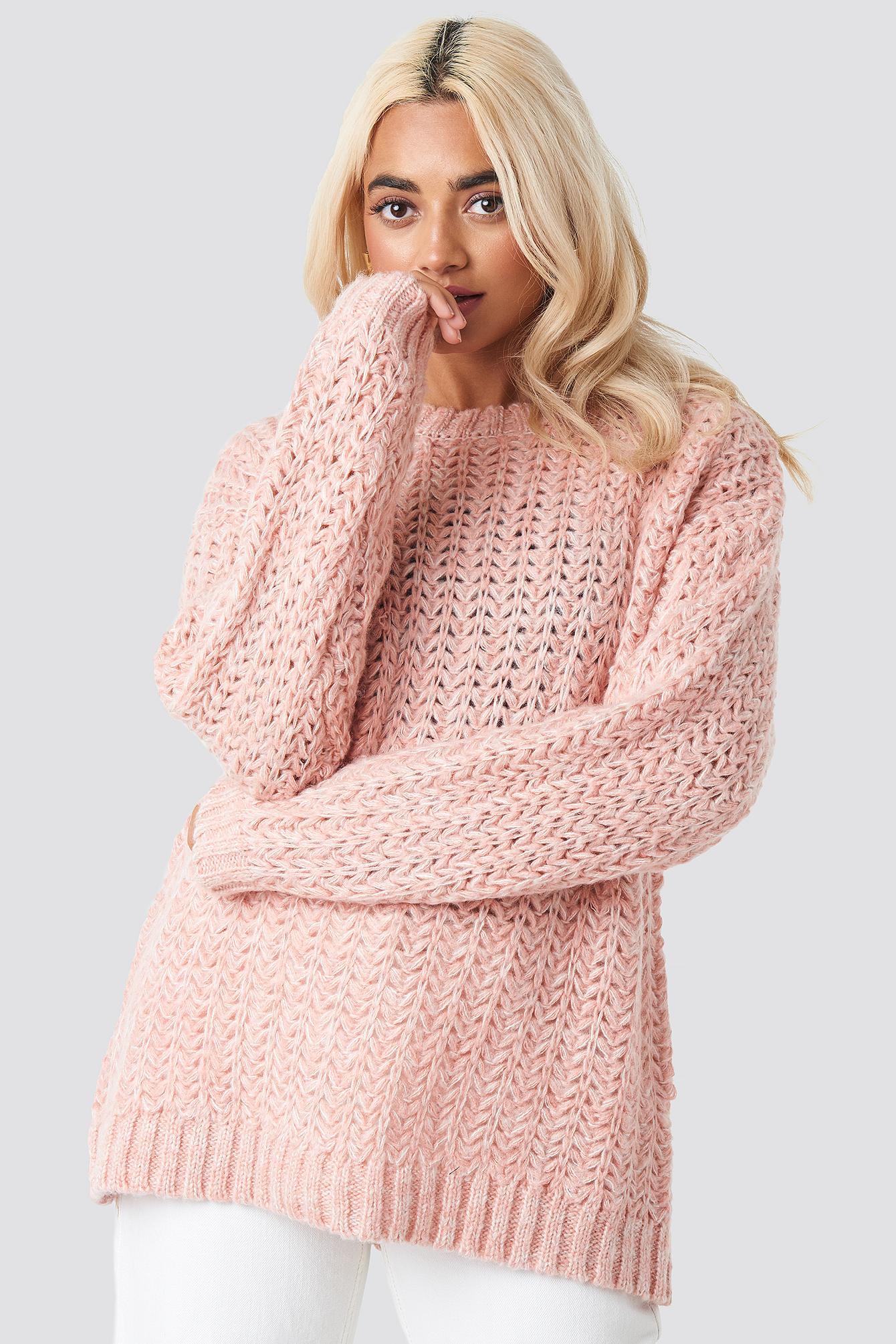 mango -  Tauro Sweater - Pink