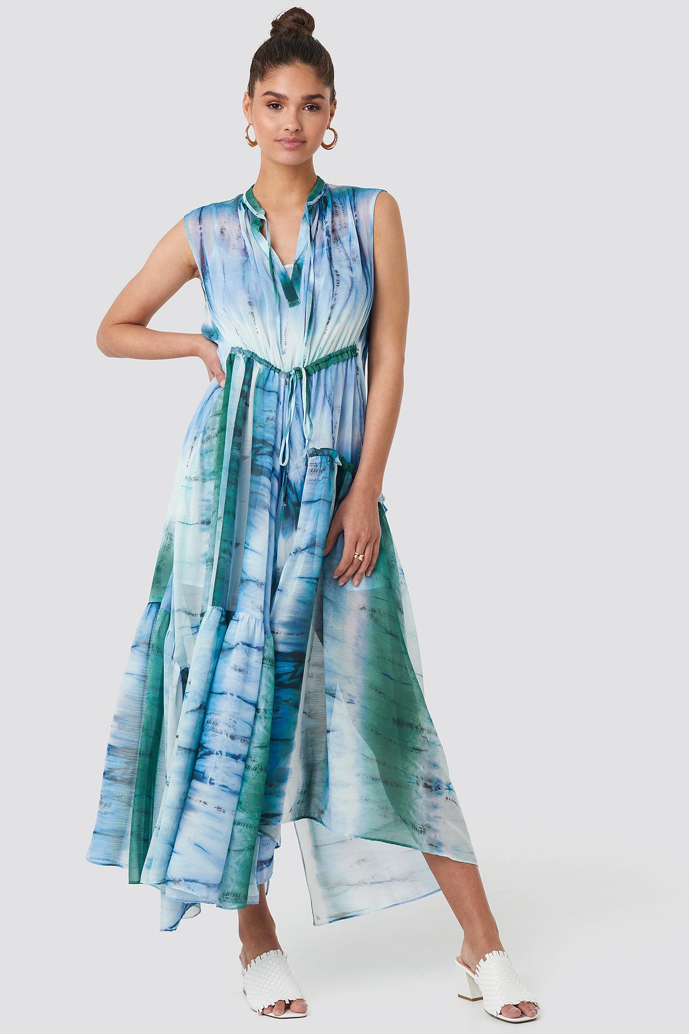 mango -  Tayi Dress - Blue