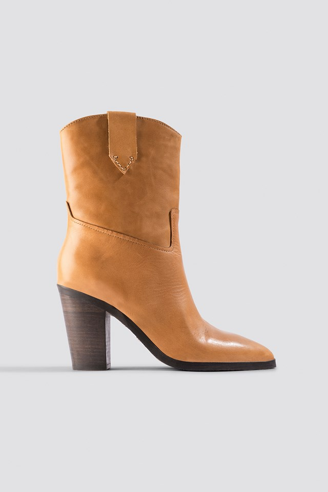 Texas Ankle Boots Medium Brown