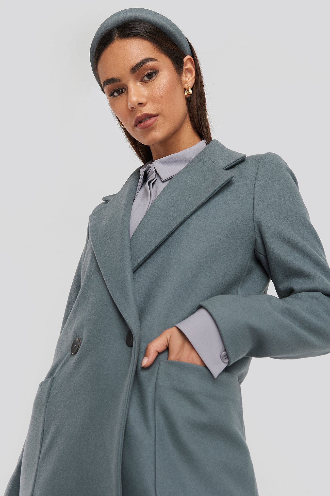 MANGO Timver Coat - Grey