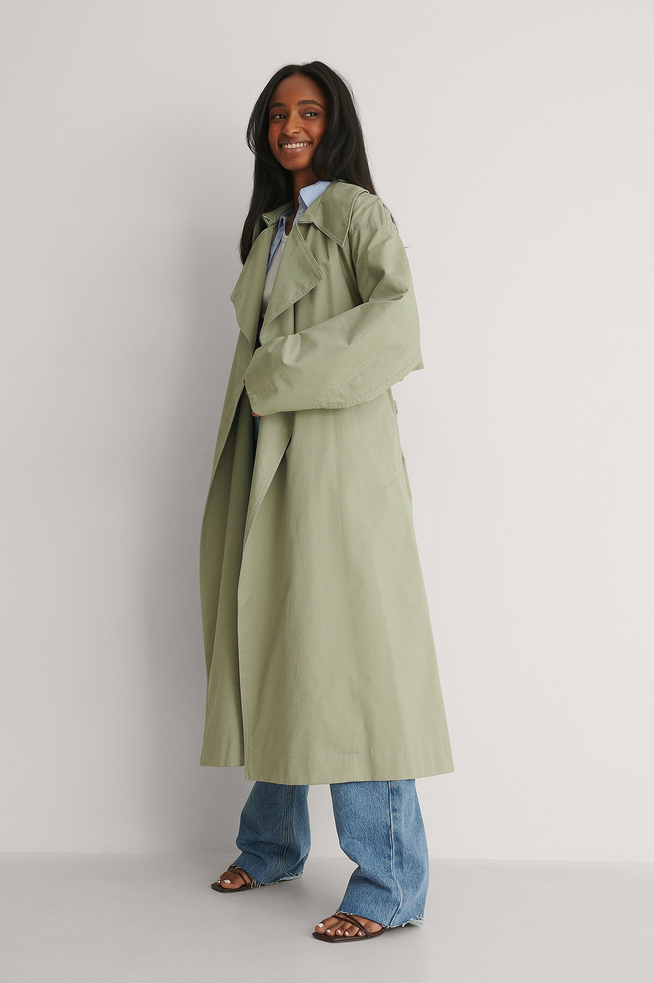 mango -  Trenchcoat - Green