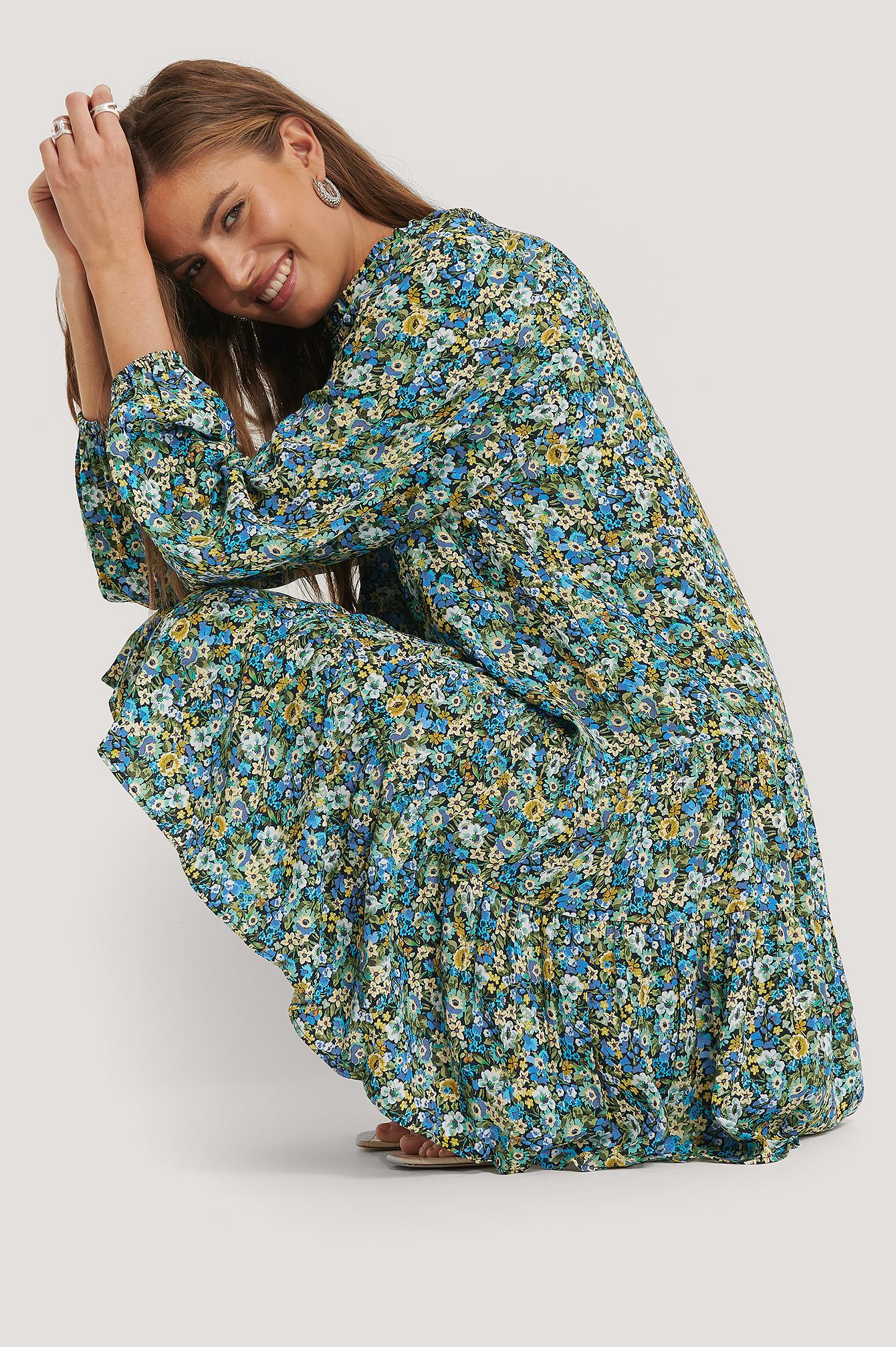 mango -  Kleid Mit Langen Ärmeln - Multicolor
