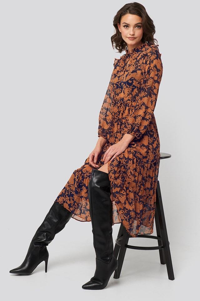 Velaz Dress Rust